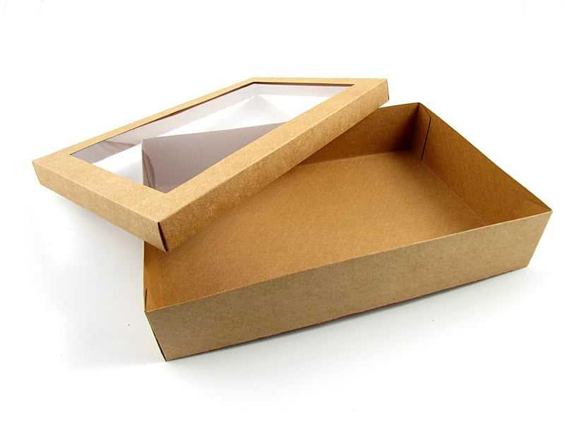 Caixa Kraft c/ Visor 30x20x6 cm - Agabox