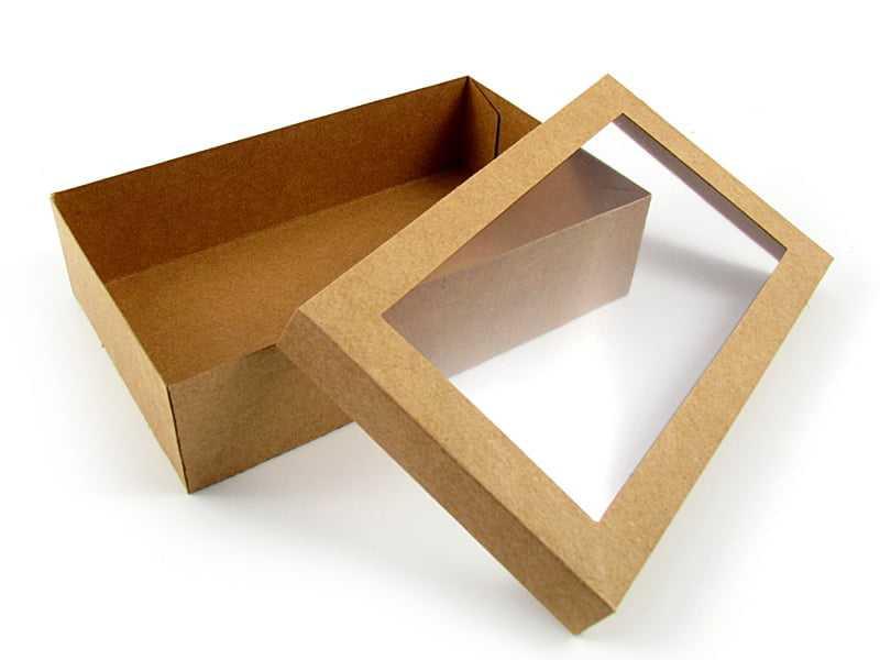 Caixa Kraft c/ Visor 20x12x5 cm - Agabox