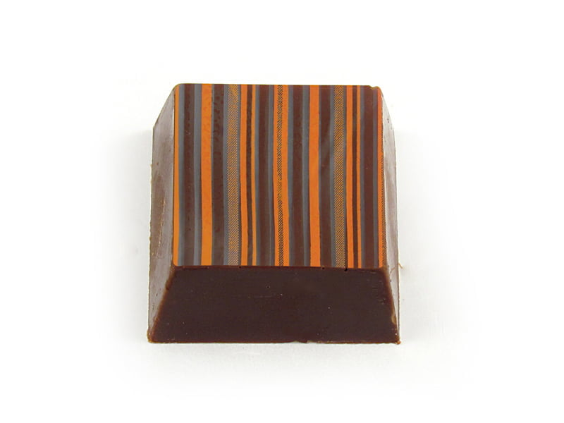 Transfer para Chocolate Listras Laranja e Marrom - Stalden