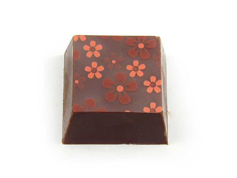 Transfer para Chocolate Flores Rosa e Violeta - Stalden