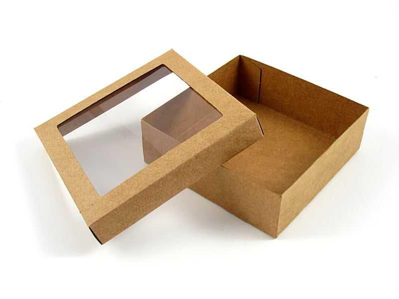 Caixa Krafft Acetato c/ Visor 15x15x4 cm - Agabox