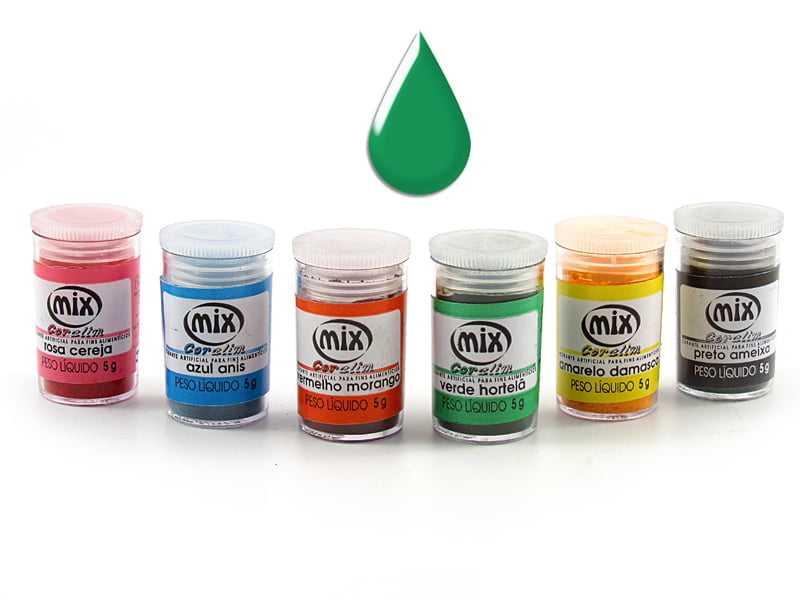 Anilina em Pó 5g Verde Hortelã Mix