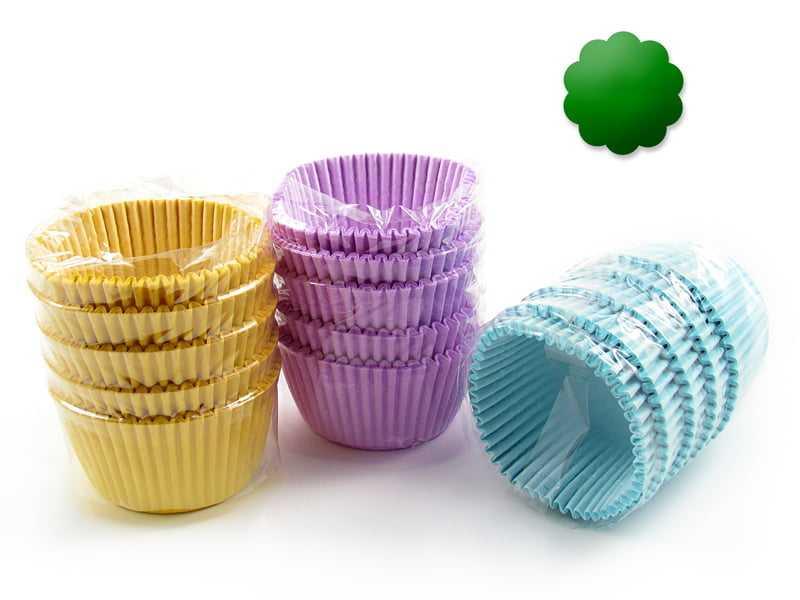Forminha de Papel Impermeável para Cupcake Verde c/75 Flopel