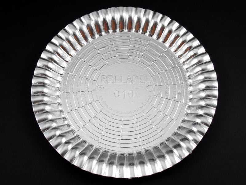 Bandeja de Papel Laminado Redondo Prata 25 cm - Flopel