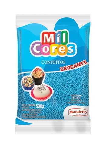 Confeito Miçanga N0 Azul 500g - Mavalério