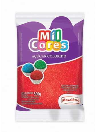 Açúcar Colorido Vermelho 500g - Mavalério