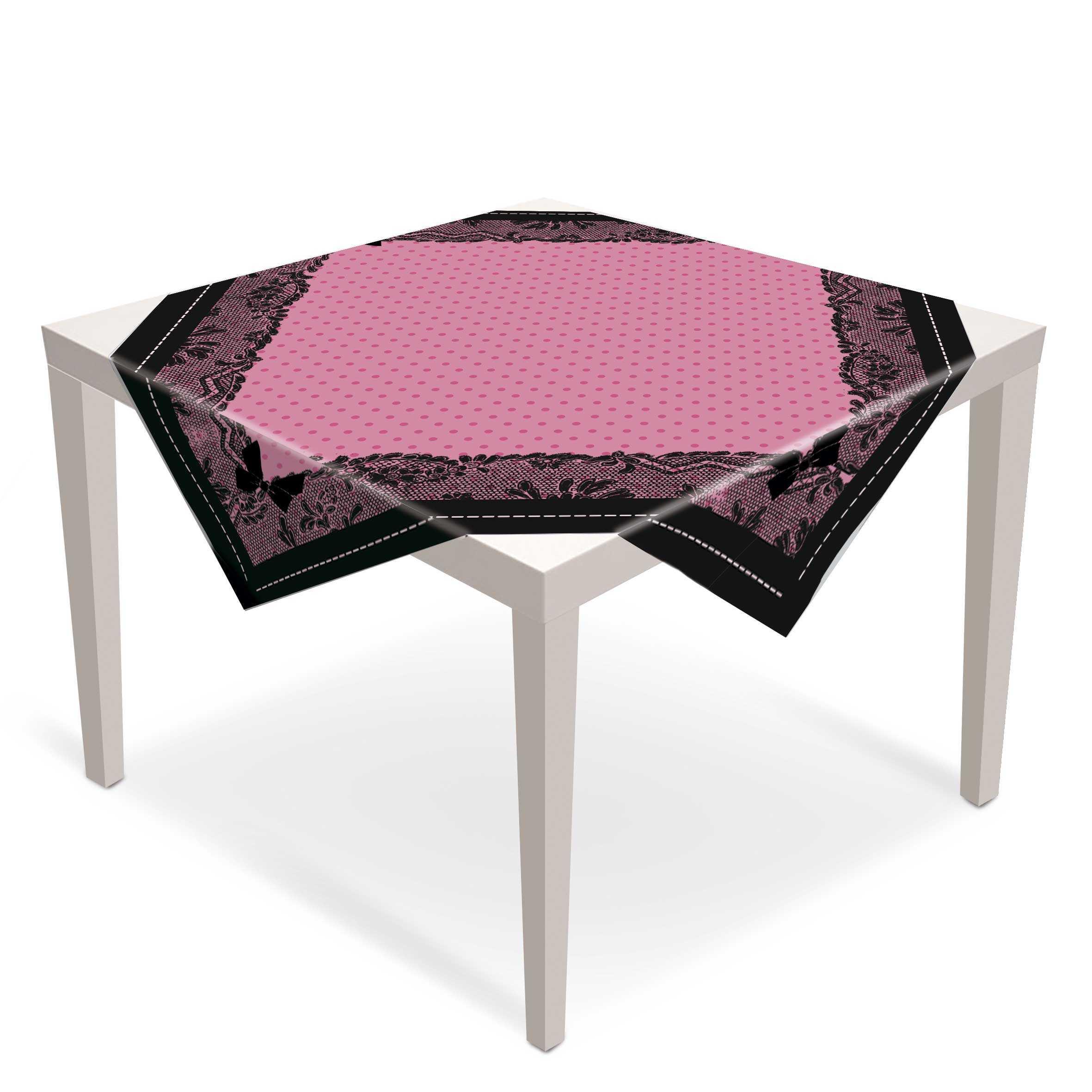 Toalha de Mesa Convidados Chá de Lingerie 79x79 cm  c/5  Cromus
