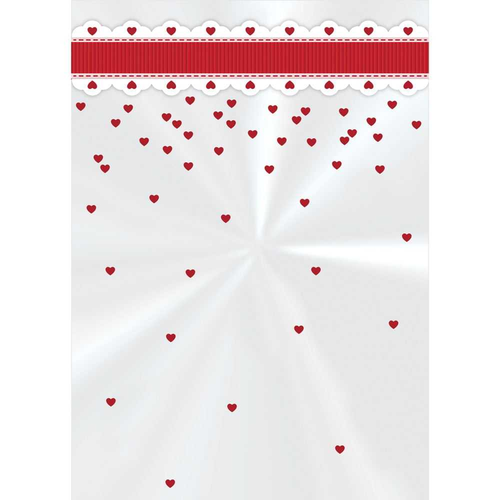 Saco Poli Cute Heart 11x19,5 cm c/ 50 - Cromus