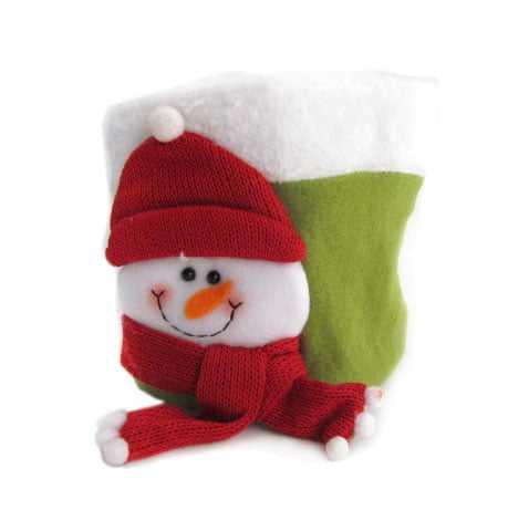 Embalagem Boneco de Neve Cachecol Vermelho Fika