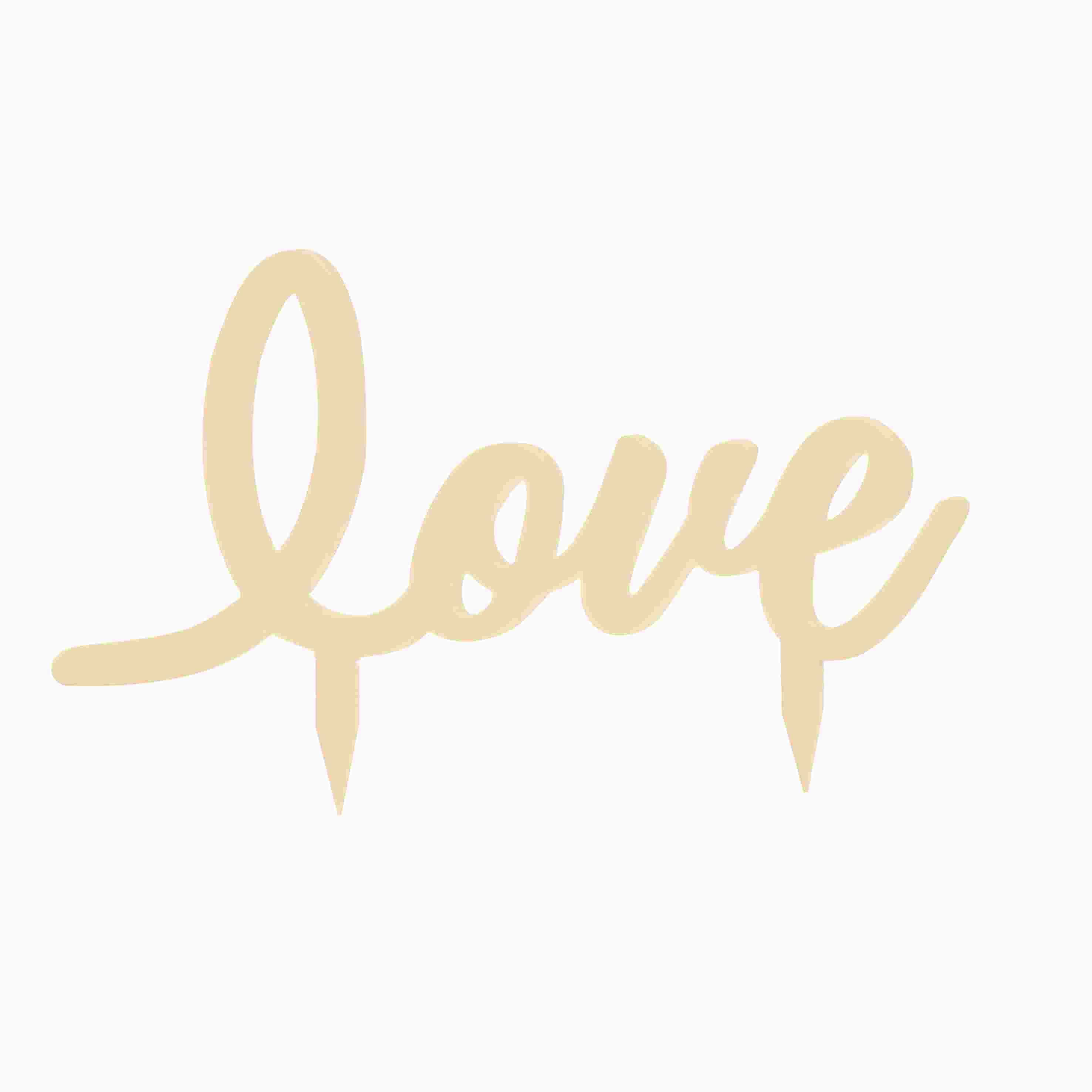 """Topo de bolo """"Love""""  Coleção Casamento Rústico Cromus"""