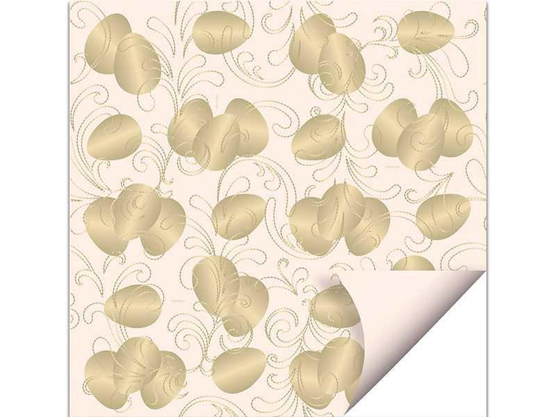 Papel Dupla Face 69x89 c/ 5 - Ovos Ouro Marfim - Cromus
