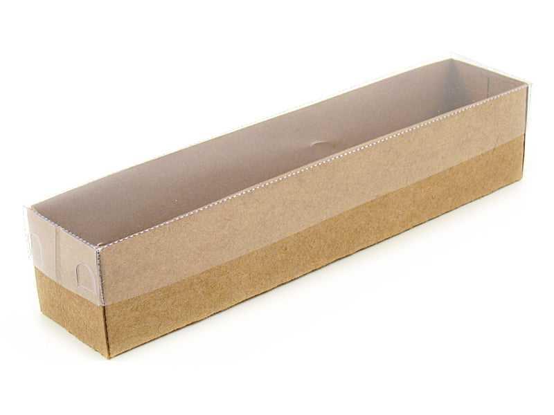 Caixa Kraft c/ Visor 20x4x4 cm - Agabox
