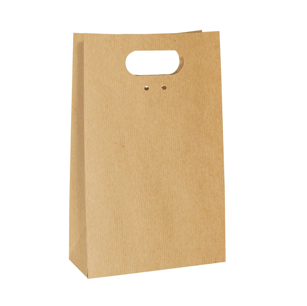 Saco de Papel c/ Alça - Kraft - Cromus