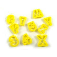 Cortador Alfabeto e Números c/ 36 Wilton