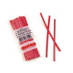 Fecho Prático Poa Vermelho/Branco C/100 - Cromus