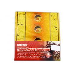 Papel para Trufa Delicia Maracujá 15X16 c/100 Cromus