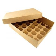 Caixa Kraft para Transporte de 30 Mini Cupcakes - Agabox