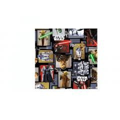 Papel Metalizado para Ovo de Páscoa 69x89 cm c/5 - Star Wars - Cromus