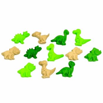 Biscuit Comestível Dinossauros Mini c/ 12 peças - Jady Confeitos
