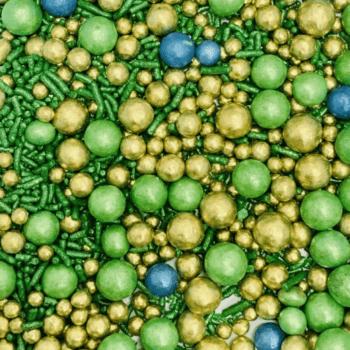Biscuit Comestível Sprinkles Green Gold - Jady Confeitos
