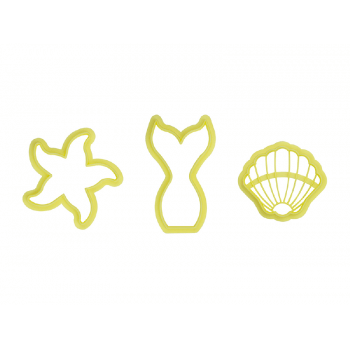 Cortador Plástico Kit Sereia c/ 3 Peças - Bluestar
