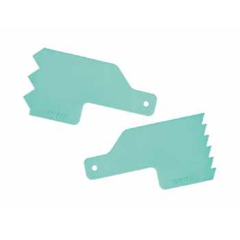 Kit Mini Espátulas Decorativas para Bolo Número 4 c/ 2 unidades - Verde Tiffany - Bluestar