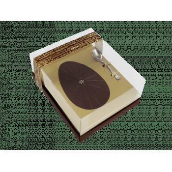 Caixa para Ovo de Colher 250g - Linha Classic Ouro - Ideia Embalagens