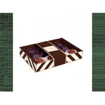Caixa para Tablete Chevron Marrom 18x13x3,2 cm - Cromus