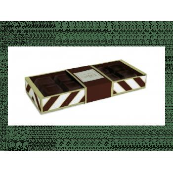 Caixa para Tablete Chevron Marrom 27,4x11x3,8 cm - Cromus