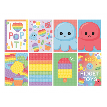 Cartaz Decorativo Festa Fidget Toys c/ 8 unidades - Cromus