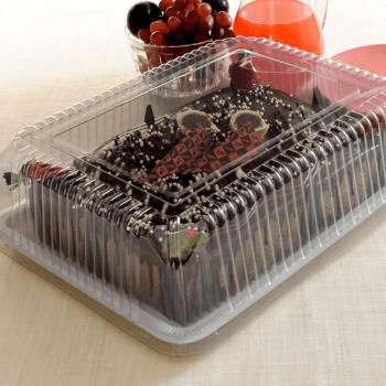 Embalagem de Plástico Torta Retangular G70M - Galvanotek