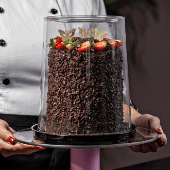 Embalagem de Plástico Torta Alta Gourmet G55CT - Galvanotek