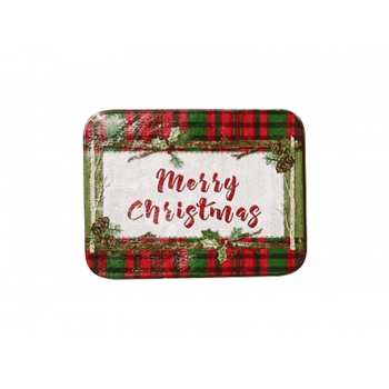 Lata Decorada Merry Christmas 10,5x7x3 cm - Yangzi