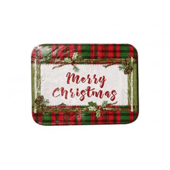 Lata Decorada Merry Christmas 11x8,5x3,5 cm - Yangzi