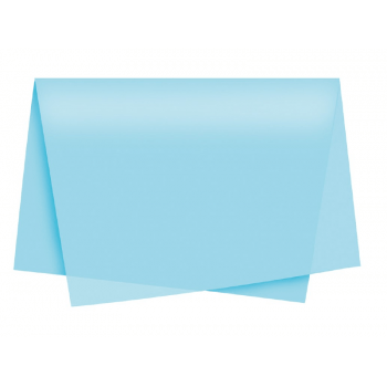 Papel de Seda Azul Claro c/ 3 unidades 49x69 cm - Cromus