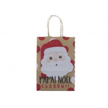 Sacola de Papel Decorada Noelito 21,5x15x8 cm - Cromus