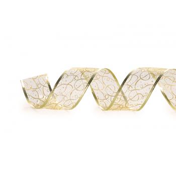 Fita  Aramada Dourado Glitter 9,14 m – Cromus