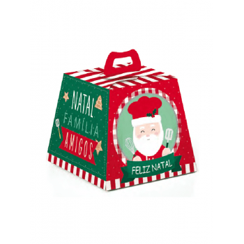 Caixa para Panetone 500g Noel Chef - Cromus
