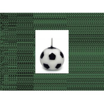 Vela de Aniversário Bola de Futebol c/ 6 unidades - Silver Plastic