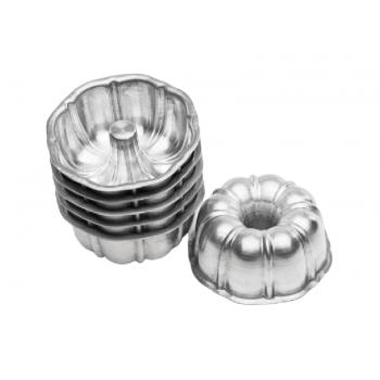 Forma Alumínio Bolo Suíça Mini c/ 6 unidades - Caparroz