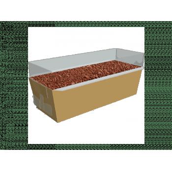 Forma para Bolo Inglês Forneável Ouro c/ Tampa c/ 10 unidades - Ideia Embalagens