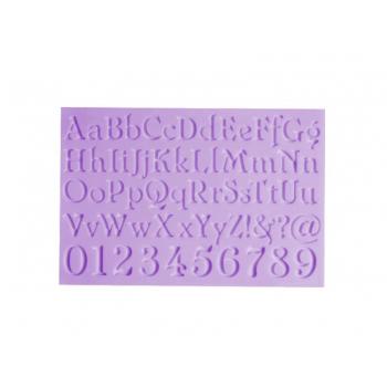 Molde de Silicone Alfabeto e Números - Prime Chef
