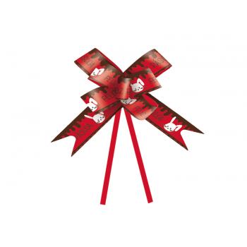 Laço Pronto Coelho Feliz Páscoa c/ 10 unidades - Vermelho - Cromus
