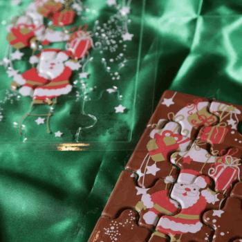 Blister para Chocolate Natal Papai Noel Quebra-Cabeça - Stalden