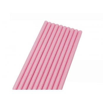 Canudo de Papel Liso Rosa c/ 50 unidades - Bwb