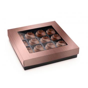Caixa para Bombom Garbo Rose Gold 17,5x9,7x3,5 cm - Cromus