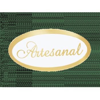 Etiqueta Artesanal Oval Ouro c/ 100 unidades - Ideia Embalagens