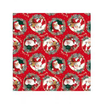 Saco Metalizado Natal Noel Boas Festas c/50 unidades 20x29 cm - Cromus